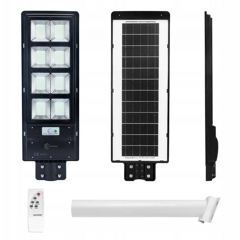 Lampa Solarna Uliczna Latarnia 360W + Pilot Uchwyt