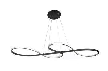 Nowoczesna Lampa Dekoracyjna z Pilotem 116W Czarna